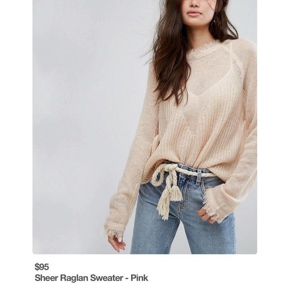 502ed640ef4d NWT Moon River Sheer Sweater Sz Small